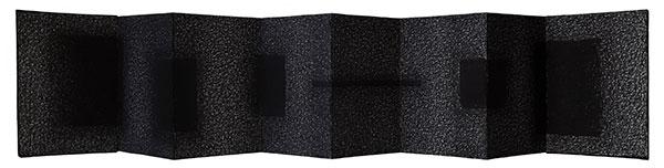 Leporello, fusain comprimé, 2018,15X79 cm