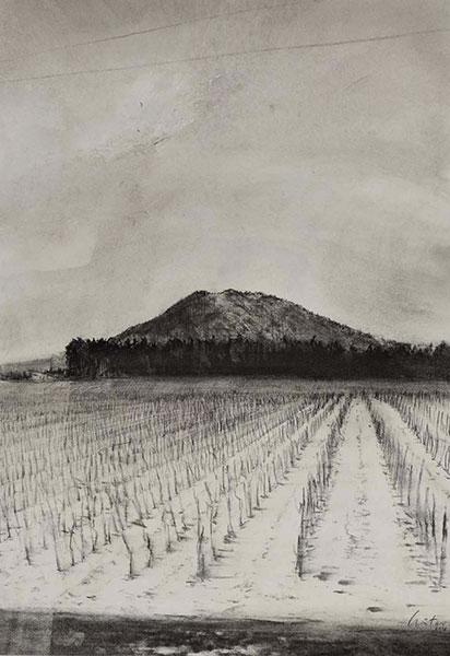 La Montagne, 48.5x33.7cm, graphite, encre
