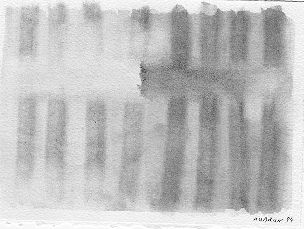 Aquarelle sur papier, 1984,  19x14 cm N°6