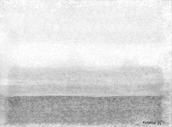Aquarelle sur papier, 1984,  19x14cm N°2 - copie