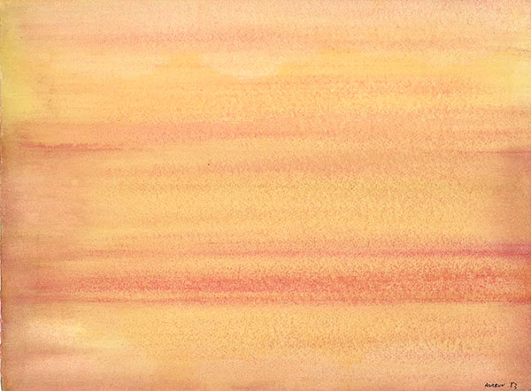 Aquarelle sur papier, 28 x 38 cm