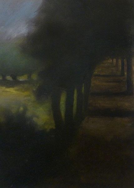 L'allée (d'après Pajak), 70x50cm, 2018