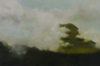 La colline embrumée, 54x81cm, 2018