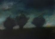 Les trois arbres, 46x65cm, 2019