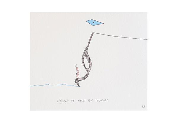 L'oiseau ne faisait plus boussole, 2007, 16 x 25 cm