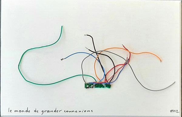 Le monde des grandes connexions, collage 2012, 11 x 17 cm