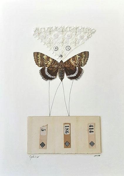 Sphinx, 2017, collage, 30 x 22,5 cm
