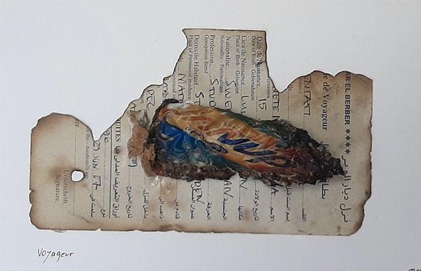 Voyageur, 2017, collage, 30 x 22,5 cm