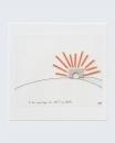 Le feu mystique du soleil couchant, 1999, collage et dessin, 19 x 14 cm