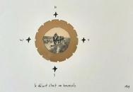 Le désert était sa boussole, 2003, collage, 15 x 21 cm