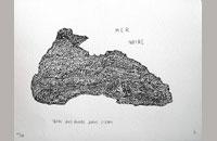 mer noire, sérigraphie, 2015