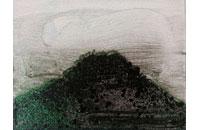 Chronique japonaise , 2014, encre de chine laque et diamantine sur toile, 24x30 cm