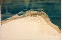 Montagne Ste Victoire, technique mixte sur velin d \'arches, 33 x50cm