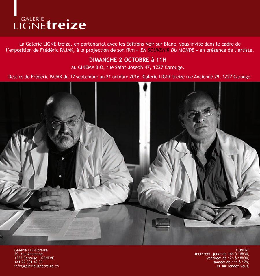 Frédéric PAJAK - Projection de son film EN SOUVENIR DU MONDE au cinéma bio