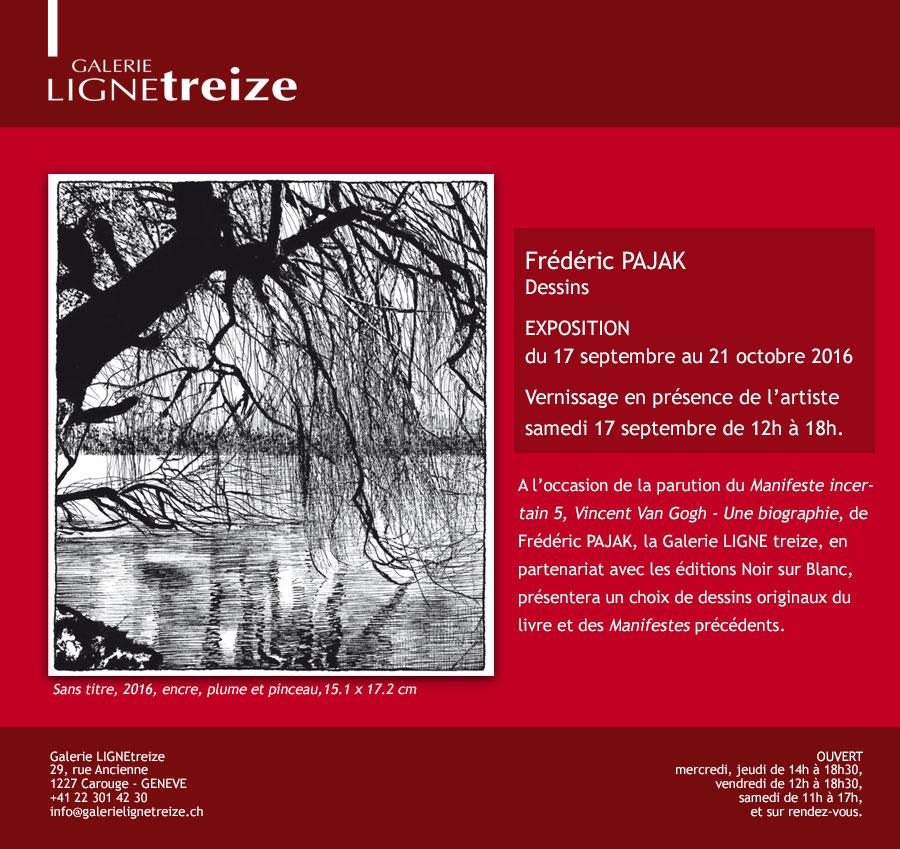 Frédéric PAJAK - Dessins - Exposition à la galerie Ligne 13