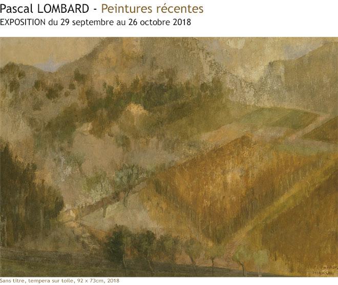 Pascal LOMBARD - Exposition à la galerie LIGNE 13
