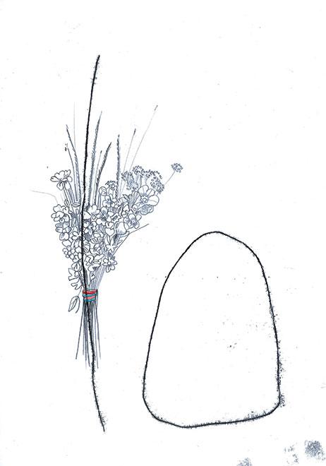 Julie BRAND - 'Les lents arpenteurs' -  Dessins - Exposition à la galerie LIGNE 13