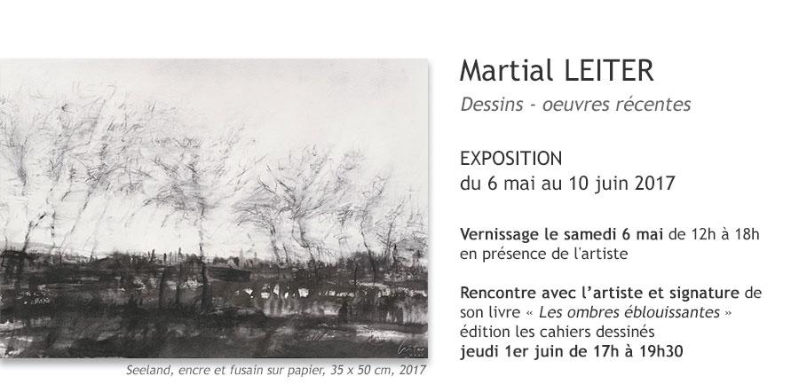 Martial Leiter - Exposition à la galerie Ligne 13