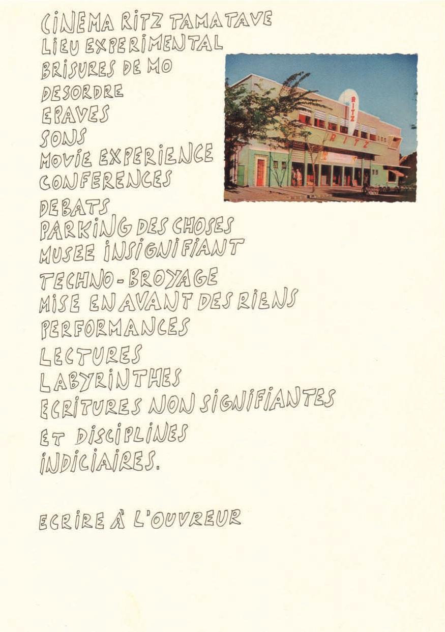 Marcel MIRACLE - Cinéma Ritz Tamatave - Dessins - Exposition à la galerie Ligne 13