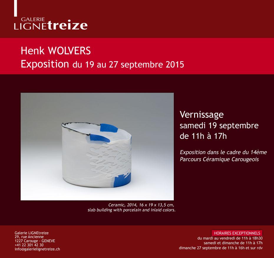 Exposition à la galerie Ligne 13 - Henk Wolvers