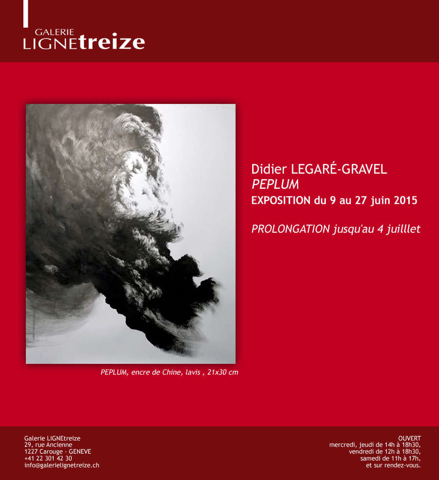Exposition à la galerie Ligne 13 -  Didier Legaré-Gravel
